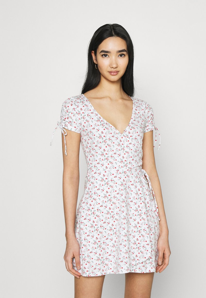 Hollister Co. - DRESS - Jerseykjole - white