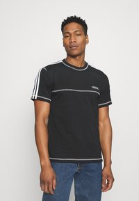 adidas Originals - STITCH - T-shirts print - black - 0
