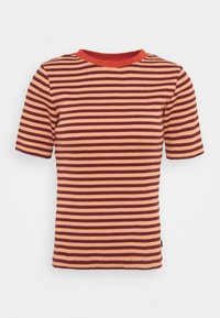 RIBBED TEE - Print T-shirt - sandy peach