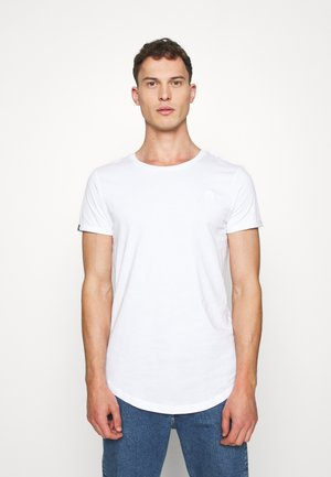 LONG BASIC WITH LOGO - Basic T-shirt - white