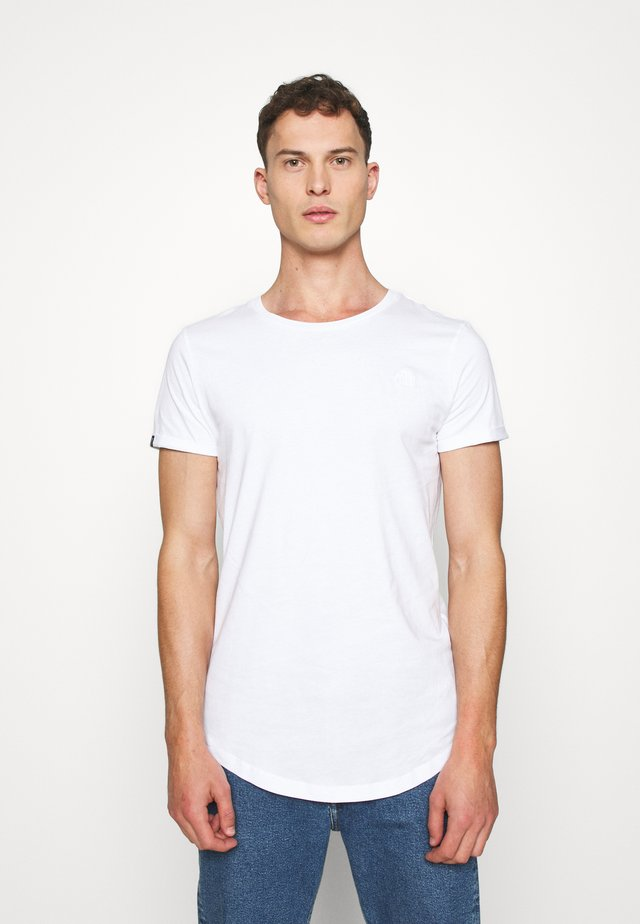LONG BASIC WITH LOGO - T-shirt basic - white