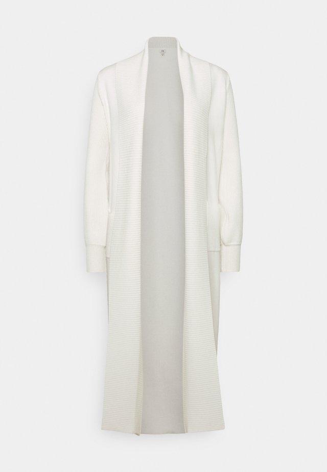 STITCH MAXI CARDI - Vest - ivory