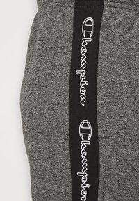 Champion - TAPE PANTS - Tracksuit bottoms - black/dark grey melange - 4