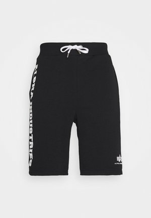 BIG LETTERS SHORT - Shorts - black