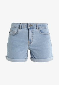 Noisy May - NMBE LUCY FOLD - Jeans Shorts - light blue denim - 4