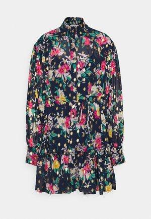 Košilové šaty - navy/pink
