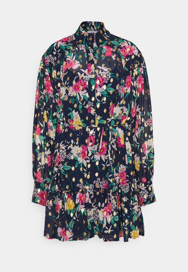 Robe chemise - navy/pink