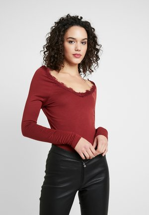 VMMERIDA V-NECK BLOUSE - Maglietta a manica lunga - madder brown