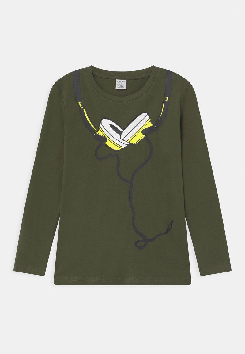 Lindex - MINI STREET PLACED PRINT - Long sleeved top - khaki green