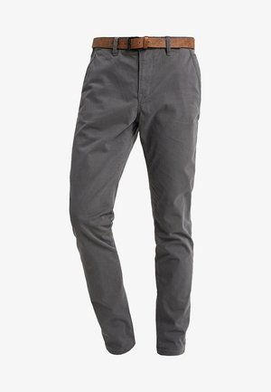 WITH BELT - Chinos - grey