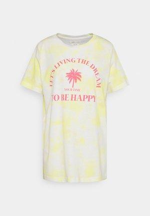 CAMISETA TIE DYE - Print T-shirt - yellow