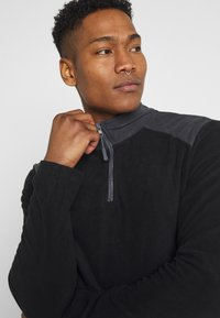 Brave Soul - THERMAL - Fleece jumper - black/slate grey - 3