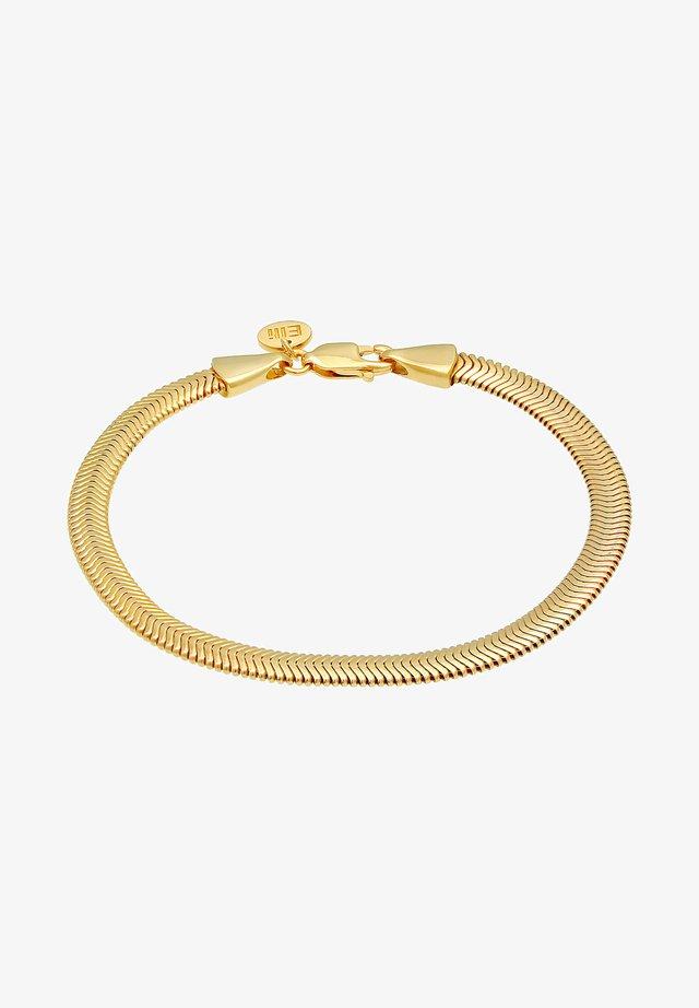 BASIC ELEGANT FLAT - Armband - gold