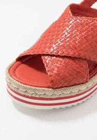 Pons Quintana - Platform sandals - coral - 2