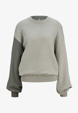 ZWEIFARBIGES  - Sweatshirt - pale salvia colourblock