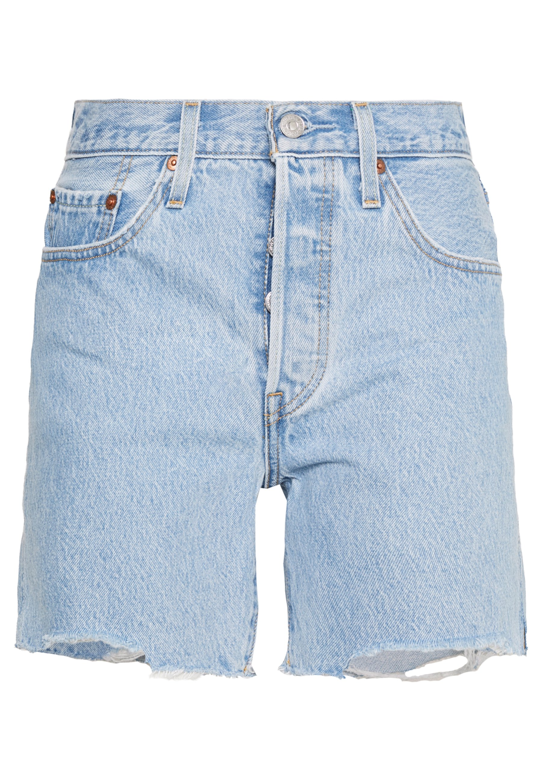 501® MID THIGH Shorts vaqueros light blue denim