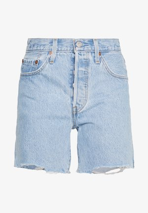 501® MID THIGH - Farkkushortsit - light blue denim