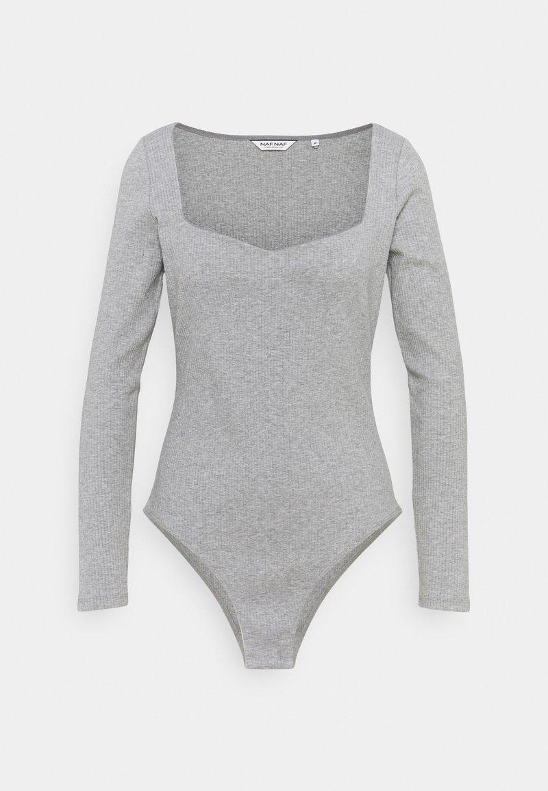 NAF NAF - BODY - Long sleeved top - gris chine
