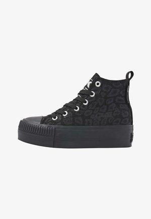 KAYA MID - Sneakers hoog - black leopard/black