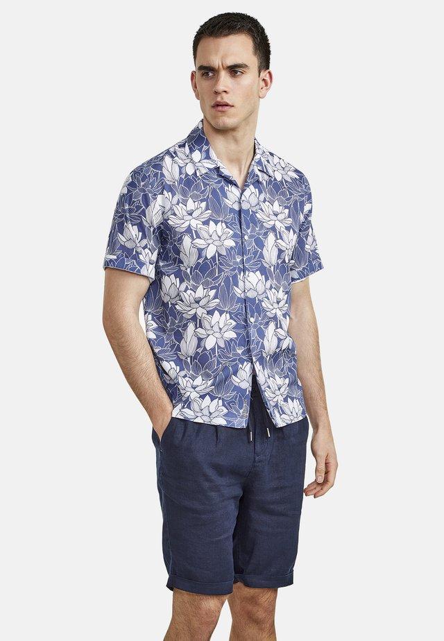 MIT LOTUSBLÜTENPRINT - Overhemd - blue