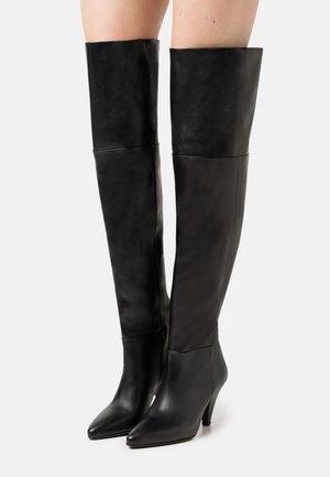 MYRASSA BOOT KNEE 7556 - Kozačky nad kolena - black
