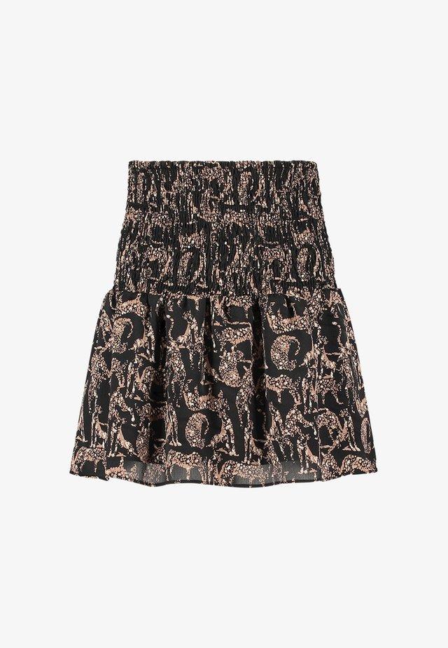 SALMY - A-line skirt - zwart