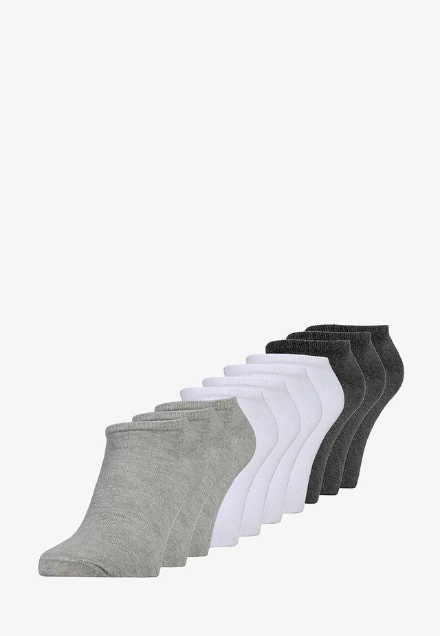 ONLINE UNISEX ESSENTIAL SNEAKER 10 PACK - Socken - dark grey/grey/white