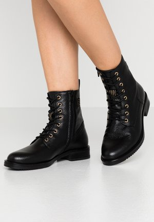 LEATHER CONAN - Lace-up ankle boots - black