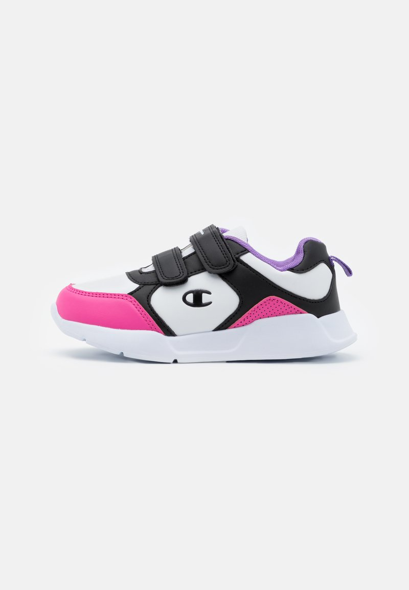 Champion - LOW CUT SHOE GRAFIC UNISEX - Sports shoes - white/new black/fuxia