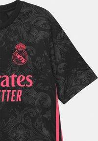adidas Performance - REAL MADRID AEROREADY SPORTS FOOTBALL UNISEX - Club wear - black - 2