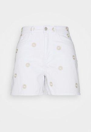 VMJOANA - Denim shorts - bright white
