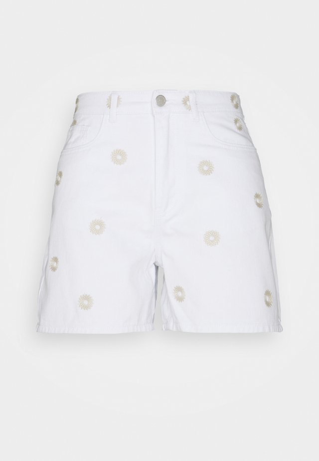 VMJOANA - Jeansshort - bright white