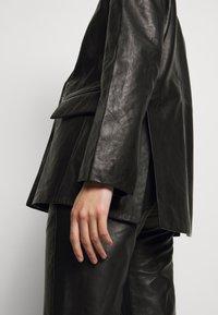 House of Dagmar - CHARLOTTE  - Leather jacket - black - 3