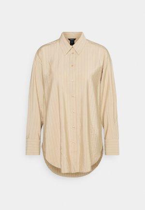 BLOUSE LANA STRIPE - Button-down blouse - light beige