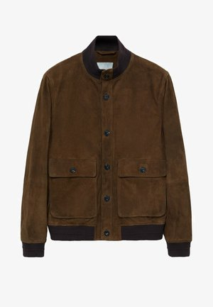 BORBONE-I - Leather jacket - braun