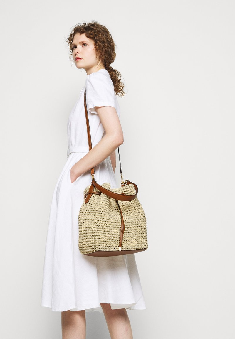 Lauren Ralph Lauren - CROCHET DEBBY - Handbag - natural/tan