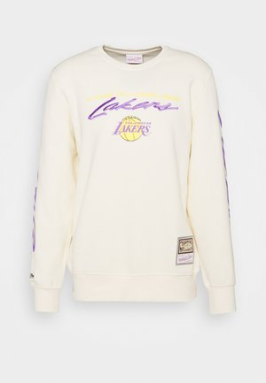 NBA LOS ANGELES LAKERS FLAMES RACING CREWNECK - Club wear - beige