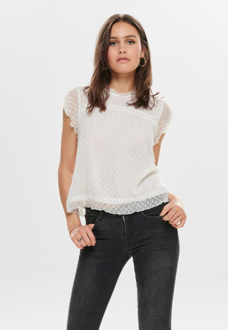 ONLY - ONLFLORA CAPSL WVN NOOS - Blusa - cloud dancer