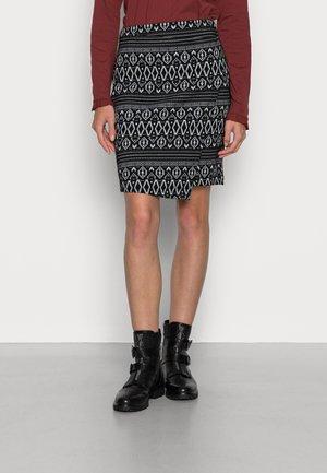 NORDIC PATT - Wrap skirt - black