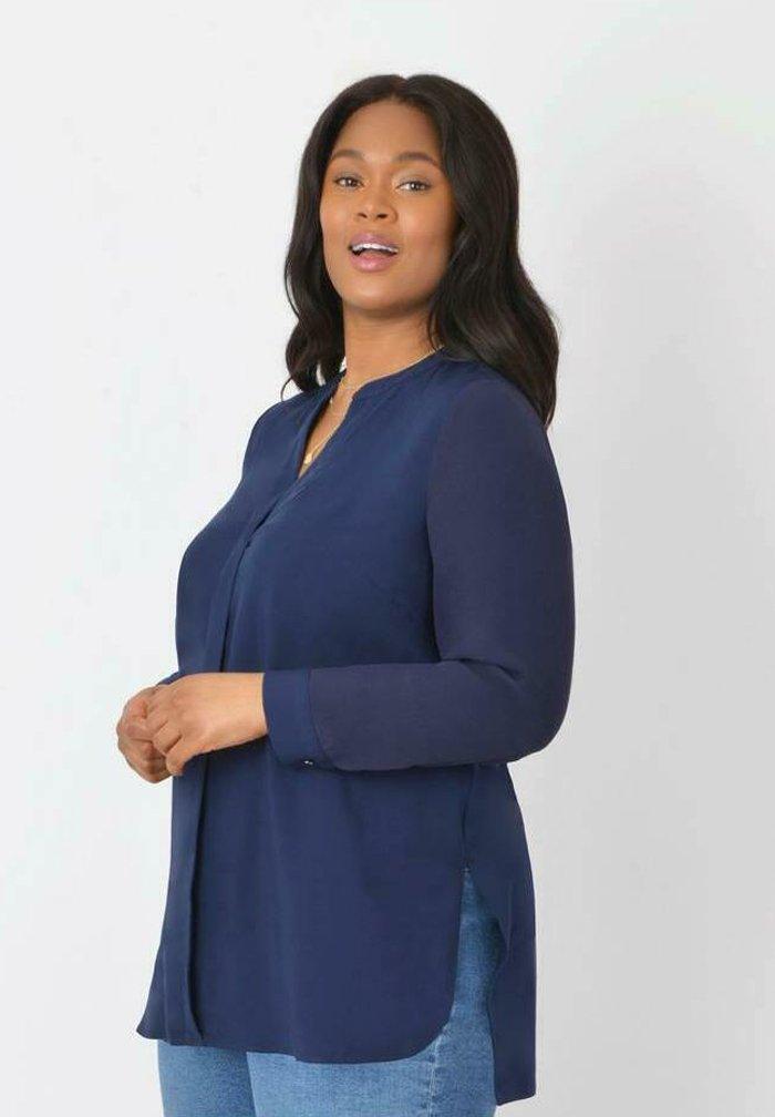 Live Unlimited London - Button-down blouse - dark blue