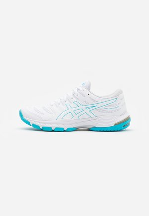 GEL-BEYOND 6 - Zapatillas de balonmano - white/aquarium