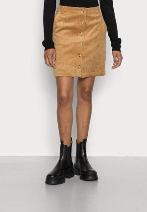 SKIRT - Mini skirt - camel