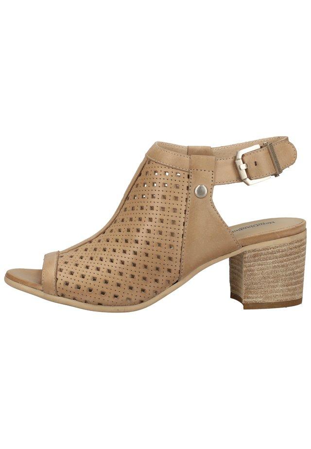 Sandalen met enkelbandjes - champagne 439