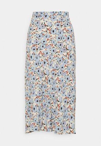 SLIDE SKIRT - Maxi skirt - blue