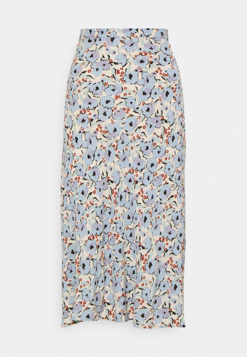 Soaked in Luxury - SLIDE SKIRT - Maxi skirt - blue