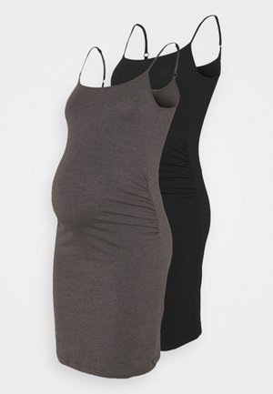 2 PACK - Jerseykjoler - black/dark grey