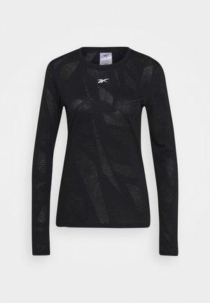 BURNOUT - Maglietta a manica lunga - black