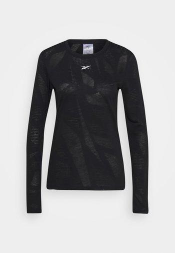 BURNOUT - Langarmshirt - black