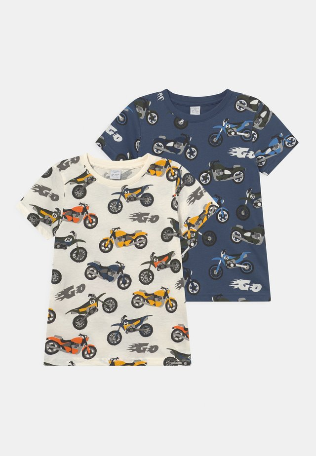 MINI 2 PACK - T-shirt con stampa - dark dusty blue
