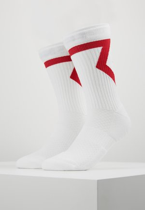 LEGACY CREW 2 PACK - Sports socks - white/gym red/black